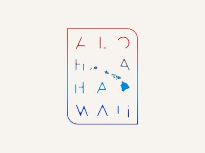 Disjointed Aloha monoline vector typography tshirt graphics shaka design branding tshirt hang loose tropical logo island hawaiian aloha hawaii
