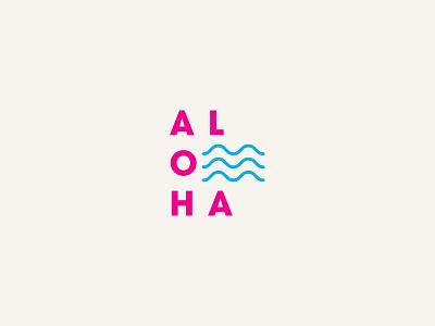 Waves of Aloha shaka typography tshirt graphics design branding tshirt hang loose tropical logo island hawaiian aloha hawaii