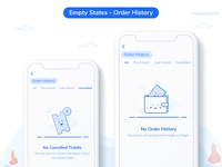 Playo App - Empty state (Order History)