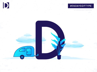 D for Destination adobeillustration adobeillustator adobe experimental type designchallenge 36days visualcommunication visualart design a day 3 color 36daysoftype-04 36daysoftype-d typo vector graphic design graphics illustration
