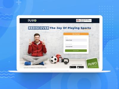 Landing Page for IIM Bangalore - Playo app