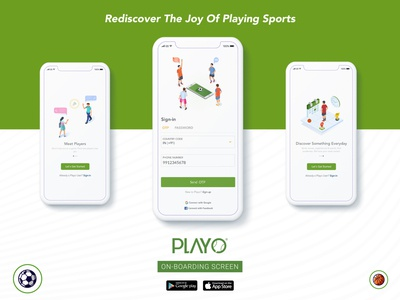 On-Boarding Screen for Playo app!