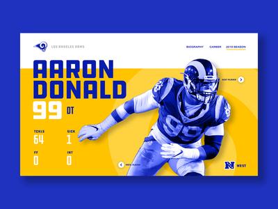 Rams Website UI – Donald