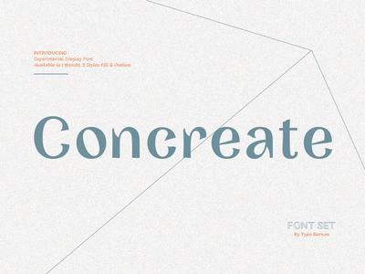 Concreate - Sans / Display Font sans serif font branding design logo type typography