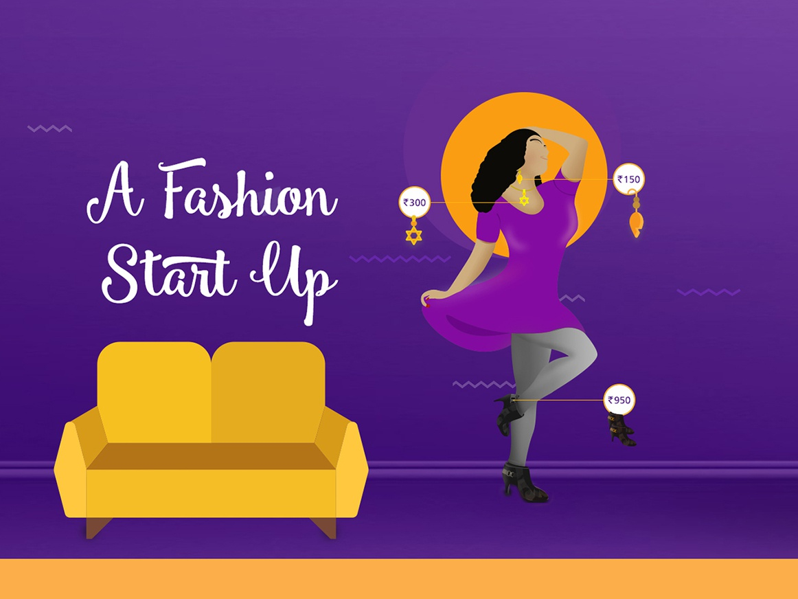 Banner Illustration vector minmal design ecommerce fashion minimal illustration