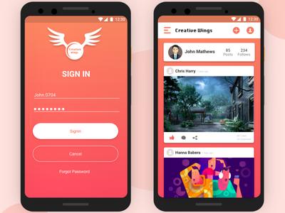 Creative Wings - Photo sharing social media app