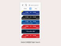 DailyUI #068 Flight Search