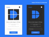 DailyUI #100 Daily UI Landing Page