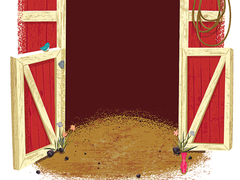 Some background work for a new project :) illustration illustrator vector retro birds barn red photoshop digital
