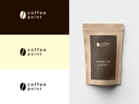 Coffee point logo and branding idea.