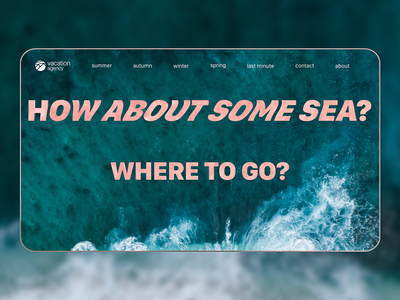 Vacation agency landing page concept | 1/3