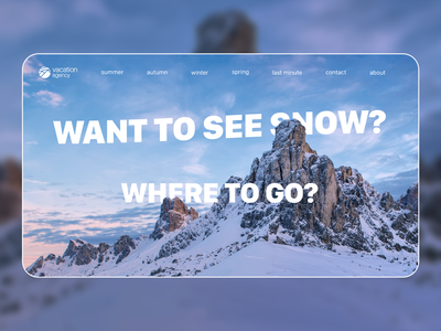 Vacation agency landing page concept | 2/3
