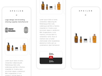Portfolio page and gallery | Espilon web | Mobile version | 3/3