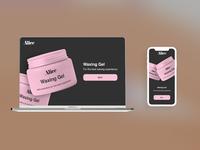 Alice   Waxing brand   web design #1