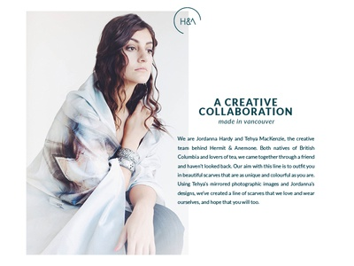 Type Treatment for Hermit & Anemone navy brand type hierarchy look book introduction layout icon type logo branding