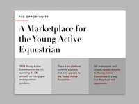 Investor Keynote for Equestrian Brand