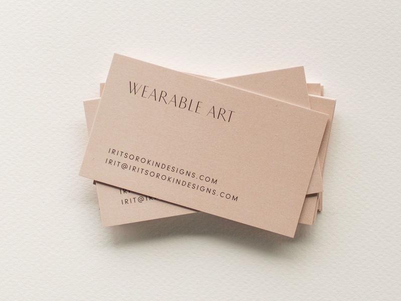 Irit Sorokin Business Card print design print business card businesscard wordmark sans serif typography logo branding