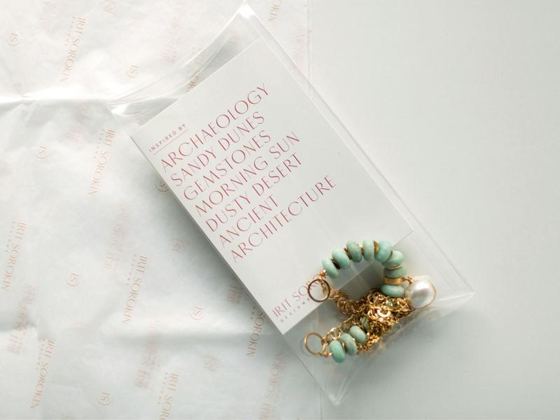 Irit Sorokin Branding jewellery packaging packaging tissue paper jewellery type logo photography sans serif wordmark typography branding