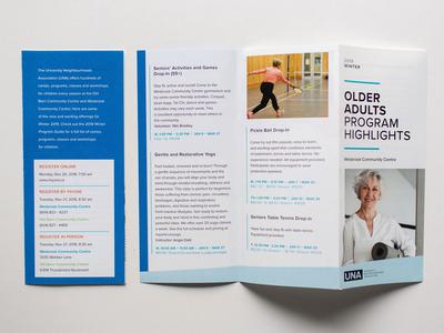 University Neighbourhood trifold program brochure