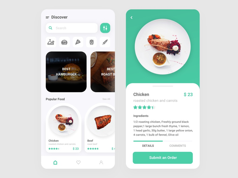 Food Delivery App ecommerce mobile ui branding best design shopping cooking food app food restaurant uiux ui minimal clean order mobile list ios delivery cartoon app