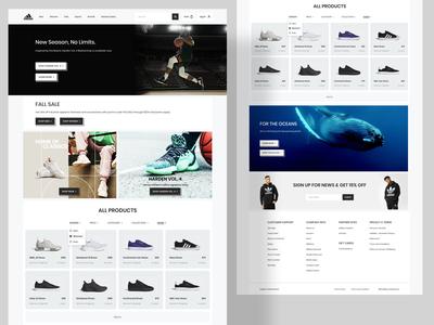 Adidas Shoe Store - Landing Page