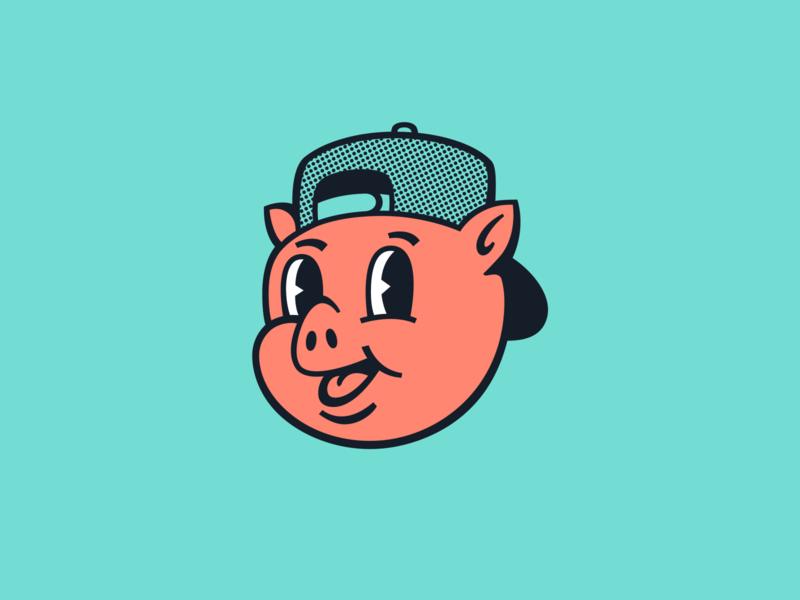 Twitch Pig Logo videogames esports gaming vector illustration graphic design logo design corporate identity brand identity branding logo