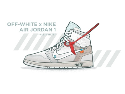Off-White AJ1 Digital Illustration