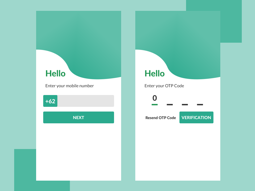 Login via number phone system for mobile apps  by Ahmad