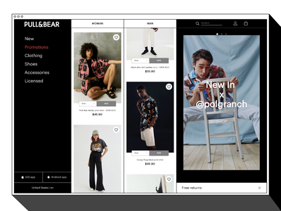 PULL&BEAR | Website Redesign brutalism model website typography minimal web design clothing branding logo ux ui animation brand fashion redesign shop web
