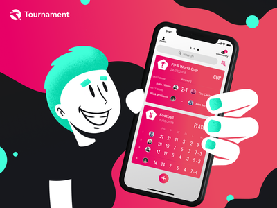 Tournament Mobile App mobile logo branding animation ux ui typography tournament sport app sketch ios illustrator illustration icon football app football figma fifa design app