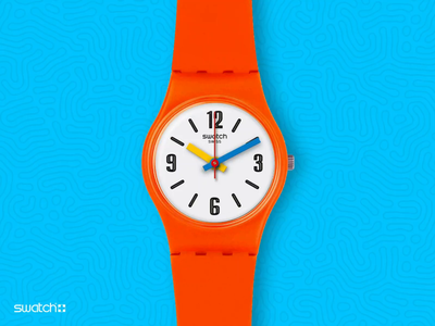 Smart Swatch Concept modular versatile customization animation watchface mockup swiss swatches touch display circular interaction concept hour time apple watch swatch smart watch watch