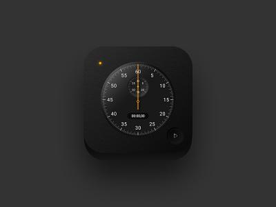 Stopwatch 3D icon braun time ios14 skeumorphism iphone app ios apple icon stopwatch neomorphic neomorphism 3d