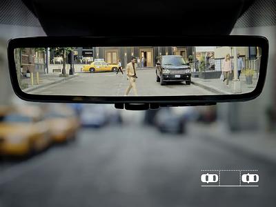 Park Assist Concept interactive display mirror driving concept smart car animation design car assistant parking lot assist parking