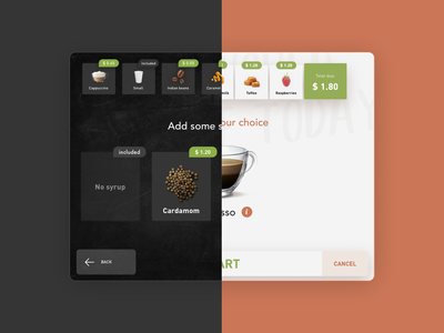 Schaerer Coffee Soul Select cappuccino espresso latte beverage customization flavour screen user interface hmi interface product uidesign ui coffee machine concept schaerer