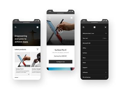 Microsoft mobile redesign ux ui mobile design website redesign website concept concept app clone mobile shop website redesign microsoft