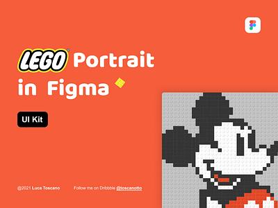 LEGO Portrait in Figma - UI Kit design system uikit figma disney mickeymouse portrait bricks lego