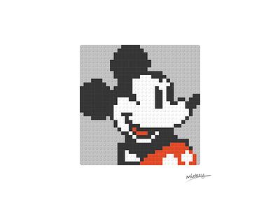 LEGO Portrait in Figma - UI Kit illustration diy ui bricks portrait mickeymouse disney lego uikit design system