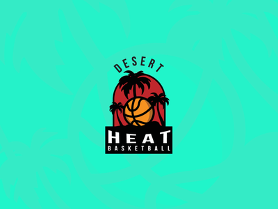 Desert Heat Logo sports logo sports vector art design palm springs basketball logo basketball branding vector illustration california logo design lionhearted studio