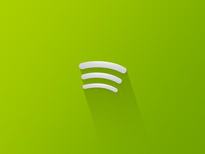 Silver shadowy Spotify rebound spotify green logo shadow
