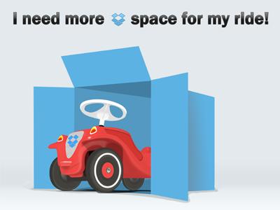 Dropcar dropbox free space cloud playoff rebound bobby car ride