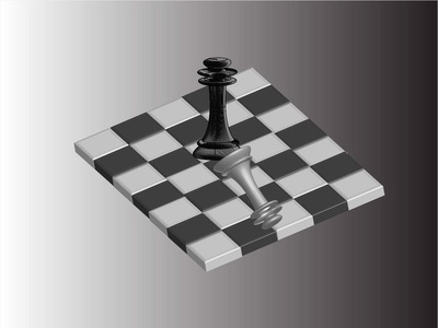 3D chess board with chess pieces chess pieces chess 3d effect 3-d creativity design adobe illustrator cc illustration