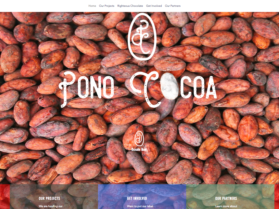 Friday Photoshop Blogging Other Pebble >> Non For Profit Pono Cocoa Web Site By Ethan Swift On Dribbble