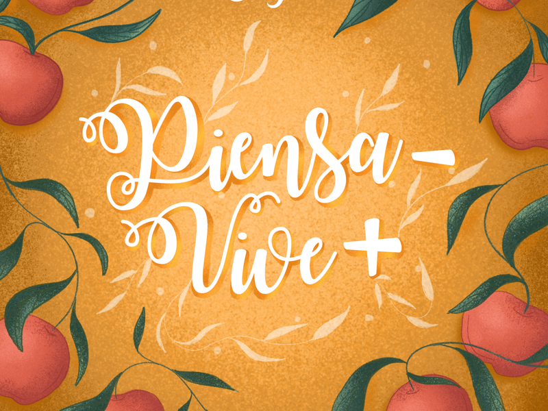 Clight - Piensa menos, vive más phrase drinks fruits apple nature brush photoshop illustration