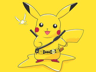 Pikachu fanart deadpool kirby spiderman zelda doctorwho yoshi batman pikachu pokemon illustration