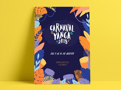 Carnaval Yanga 2018 design branding poster afro festival fest carnaval carnival identity illustration