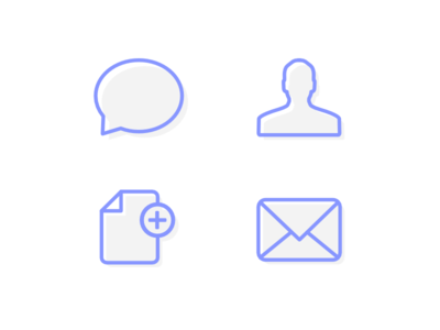 Outline Icons outline icons affinity designer mail messages