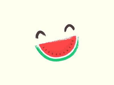 Happy Melon illustration happy watermelon