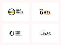 Bao restaurant logo variations