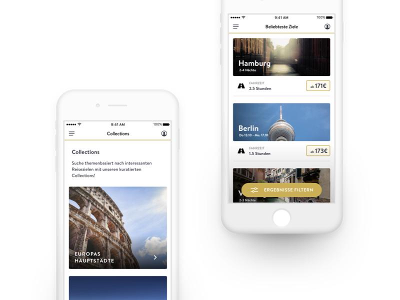 Travel booking app concept concept boana iphone app travel