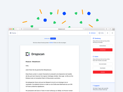 Dropscan - Scan web design web app dropscan scan